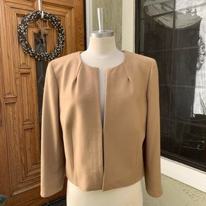 J CREW Women's Jacket Cropped Sleeve Camel Color